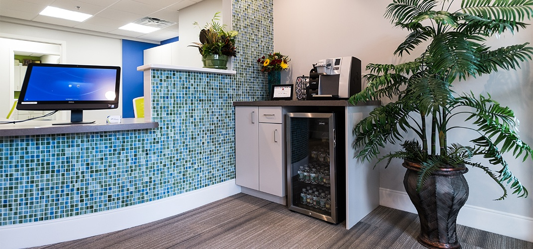 Orthodontic office complimentary beverage bar