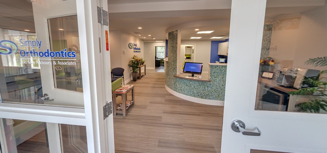 Orthodontic office reception desk